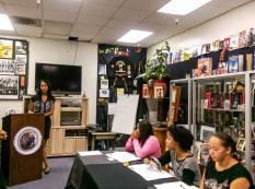 Ms. Monique Hughes speaking on